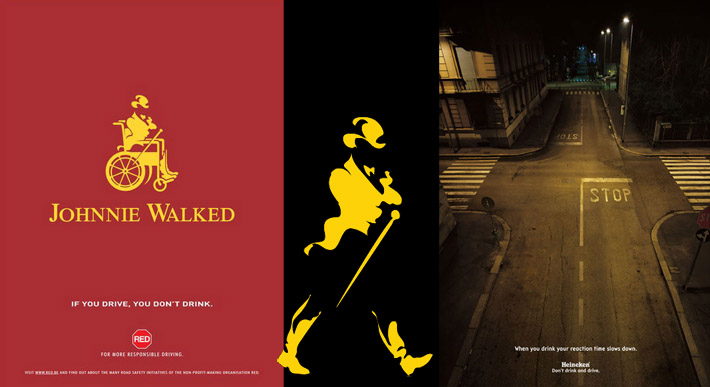 Dont drink and drive Johnnie Walking