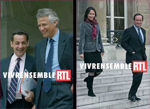 RTL vivrensemble sarkozy villepin royal hollande